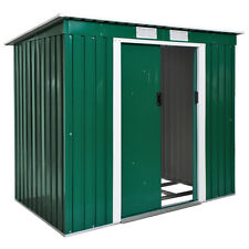 Box casetta metallo per giardino serra per attrezzi capannone verde + fondazione