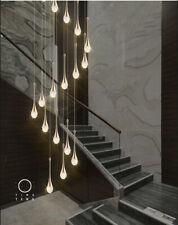Modern LED chandelier crystal light luxury duplex Living room stair pendant lamp