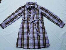 Gymboree Girls Cowgirls At Heart Dress Sz 6 Plaid Purple Vintage Tie Belt Shirt