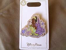 Disney * PRINCESS TIANA & SPARKLE CASTLE * New on Card Trading Pin