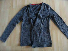 EDC by ESPRIT schöne grau melierte Strickjacke Gr. S TOP KY1214