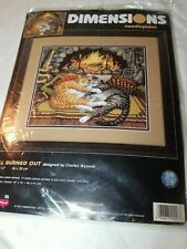 Dimensions Needlepoint Kit 20007 All Burned Out 14 x 12 Cats New Unopened