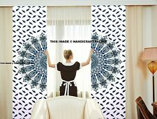 Indian Peacock Mandala Cotton Ethnic Tapestry Door Curtain Decor Window Curtains