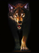 New Wolf Lenticular 3D Picture Animal Poster Painting Home Decor Wall Art Decor