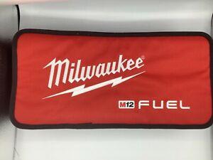 "2*Milwaukee M12 Fuel Logo 17"" Contractor Soft Case Bag 17*8*3 straps inside m18"