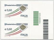 REPUBBLICA ITALIANA - 2009 Posta Italiana 0,60 busta oro con codice a barre 1222