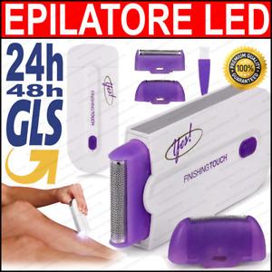 Epilatore depilatore a luce pulsata yes finisching touch donna senza fili led