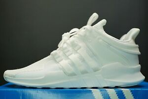 adidas Originals EQT Support ADV Trainers Triple White Sneakers Size UK 9 Shoes