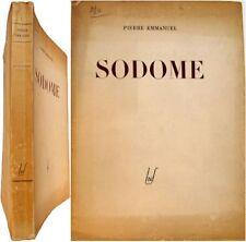 Sodome 1944 Pierre Emmanuel poésie édition originale Egloff
