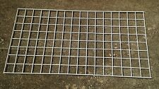 24 X 48 Slat Grid Gridwall Store White Display Panel Used 0011010