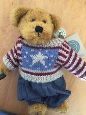 Boyd Bear Eddie Bean Bauer Patriotic Stuffed Animal Preowned With Tags