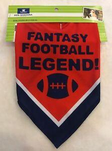 Fantasy Football Legend Dog Bandana - LARGE - #1 Draft Pick - Top Paw - NWT