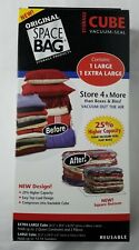 New Original Space Bag Extra-Large and Large Storage Cube Vacuum Seal