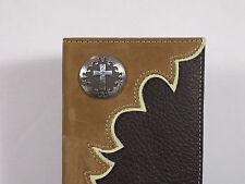 Nocona Cowboy Cross Western Cowboy Checkbook Cover Wallet Billfold Checkbook