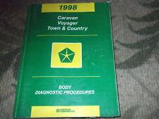 1998 Dodge Caravan Mini Van Diagnostic Procedures Body Service Shop Manual OEM