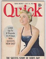 JULY 16 1951 QUICK vintage digest sized magazine DORIS DAY