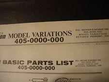 clinton parts list,clinton 405-0000-000,1963 illustrated antique clinton engine