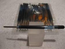 LOT of 25 TERZETTI Black Ballpoint Refills PARKER-Medium-Clear Plastic+FREE PEN