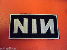 ROCK PUNK METAL MUSIC SEW/IRON ON PATCH:- NINE INCH NAILS NIN TRENT REZNOR
