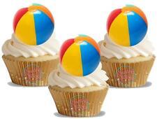 Novedad Playa Bola 12 Levantarse Comestible Imagen Cake Toppers Cumpleaños Fiestas