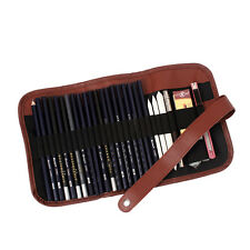 24Pcs Sketch Pencils case Charcoal Extender Pencil shade Cutter Drawing Bag ME