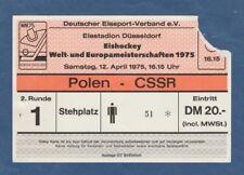 USA  ! Orig.Ticket  Eishockey WM Deutschland 1975  Finalrunde  SCHWEDEN TOP
