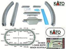 KATO 20-865 START-SET V6 OVALE Cm.140x74 COMPLETO di BINARI CAVO SCIVOLO SCALA-N