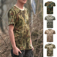 Men T-Shirt Male Camouflage Tops Tee Sport Slim Fit Army Summer Hot Sale