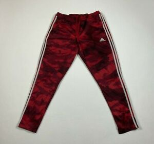 Adidas Climacool Running Athletic Jogger Pants Size L Large Red Drawstring #599