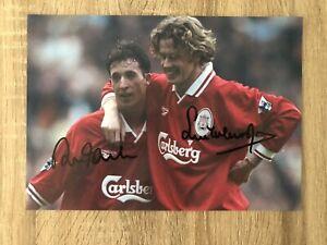 Robbie Fowler & Steve McManaman Liverpool Signed Photo Football