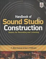 Handbook of Sound Studio Construction : Rooms for Recording and Listening by...