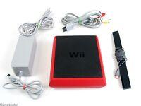 ORIGINAL NINTENDO Wii - MINI - KONSOLE (Rot /Schwarz) inkl. ORIGINAL KABEL