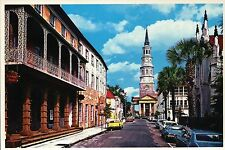 Along Church Street, Charleston South Carolina, Dock St. Theatre etc. - Postcard