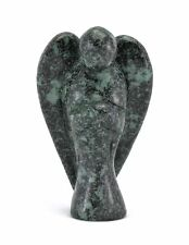 Angel Spiked Green Jasper Hand Carved Gemstone Being Totem Statue Stone