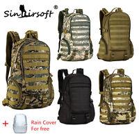 Tactical 35L Military Molle Backpack Rucksack Hiking Camping Travel Shoulder Bag