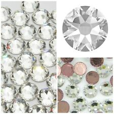 47451401d Swarovski Hotfix Crystals - Clear Flatbacks 10 Sizes Diamantes Rhinestones  Gems