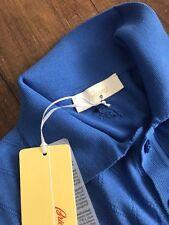 BRIONI Maglieria Uomo Polo T-Shirt Pulsante Collare Rombo Colore Blu Taglia M