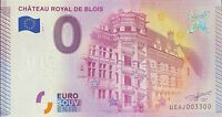 BILLET CHATEAU ROYAL DE BLOIS FRANCE 2015-1 NUMERO 3300
