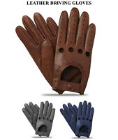 Men's Style Classic Retro Quality Chauffeur Driving Soft Lambskin Leather Gloves