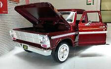 G LGB 1:24 Scale USA Ford F100 Pickup Ute Van 1969 Red Truck Diecast Model Car