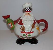 Fat Chef  Santa Teapot
