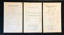 3 X Harland & Wolff Belfast 1930's Drawings LEAD PLATE PIN PARAVANE CRANE - RF22