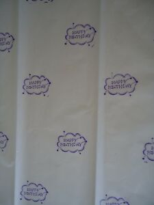 HAPPY BIRTHDAY TISSUE PAPER Hand Stamped Gr8 for gift giving  FREE SHIP