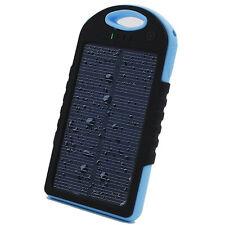 Banco De Energía Batería Cargador Solar Portátil Estanco 5000 mAh 4 Colores