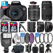 Canon Rebel 800D T7i Camera + 18-55mm + 75-300mm + EXT BAT + 32GB + 1yr Warranty