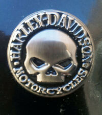 HARLEY DAVIDSON BLACK EYE WILLIE G SKULL  DIE CAST HARLEY  PIN