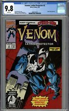 Venom Lethal Protector #2 CGC 9.8 NM/MT Spider-Man Appearance WHITE PAGES