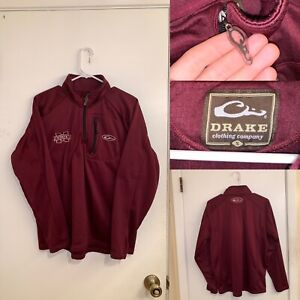 Drake Clothing Brand Mississippi State Sweatshirt Pullover Mens Size S Maroon