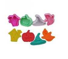 HALLOWEEN / Pastry & Sugarcraft, 4 Plungers Cutters Ghost, Pumpkin, Witch, House