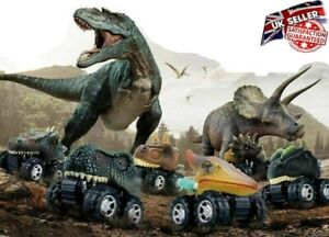 6PCS Dinosaur Cars Pull Back Vehicle Set Mini Animal Car Boys Toys Birthday Gift